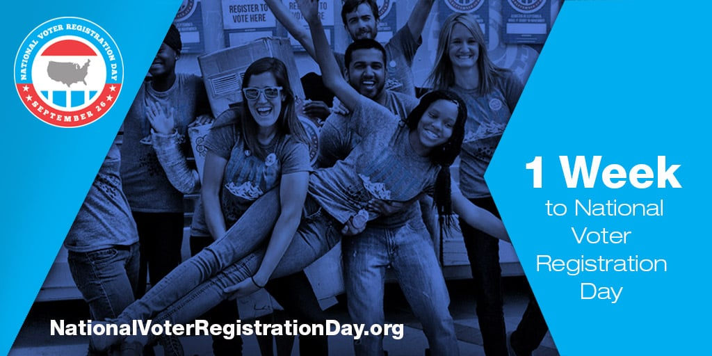 Mark your calendar: September 26 is National Voter Registration Day!